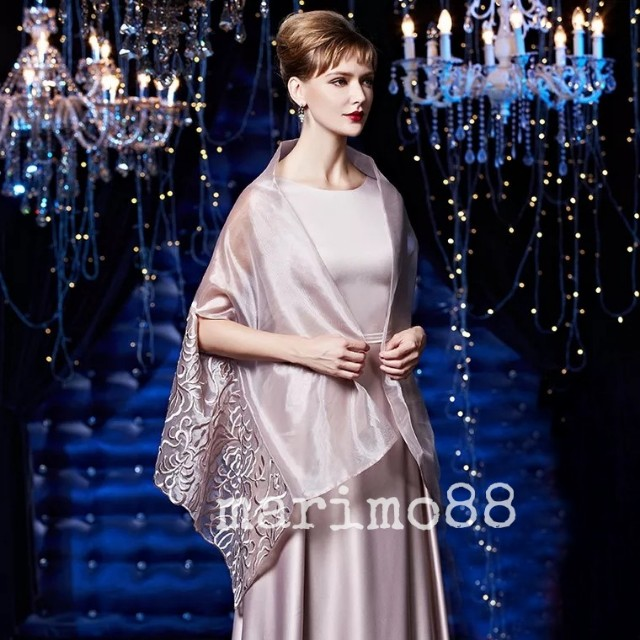 Ready Stock wedding mother evening dress gown Shawl large size thin ...