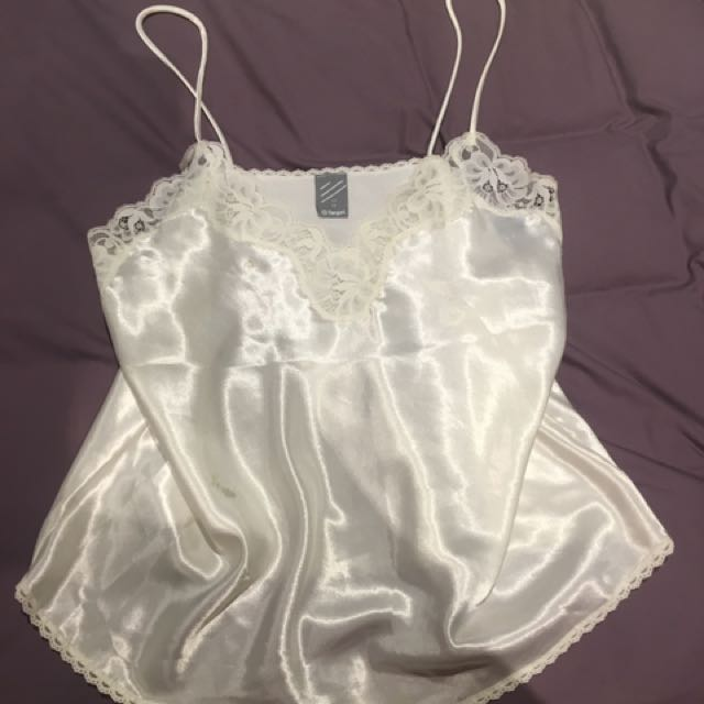 white Lace singlet