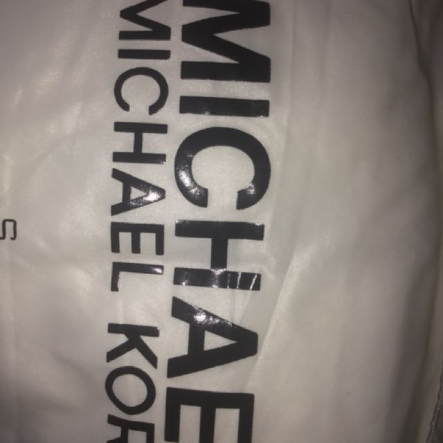 White Michael Kors Rain/ Wind Breaker Jacket