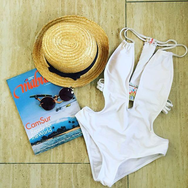 White Monokini Large