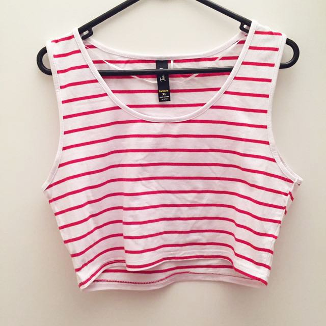White Singlet With Red Stripes