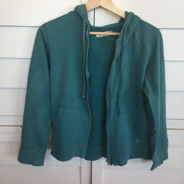 Women's green jacket hoodie