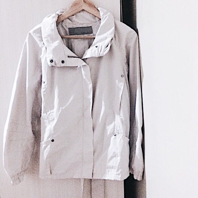 Zara Basic White Coat Jacket