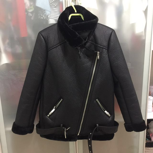 Zara Winter leather jacket (NEW)