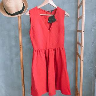 Authentic Maje red dress (new)