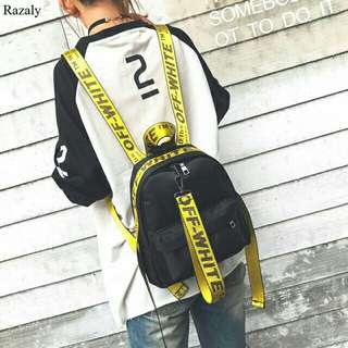 ❤ OFF WHITE Backpack Nylon ( GOOD QUALITY )