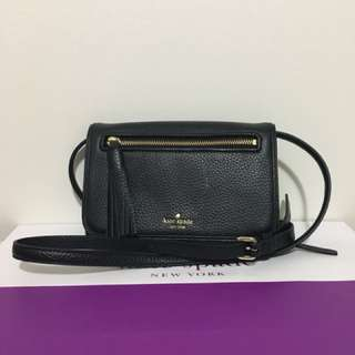 Black Kate Spade leather sling bag
