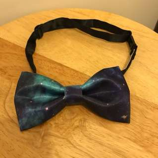 Bow tie 紫藍色絲質煲呔