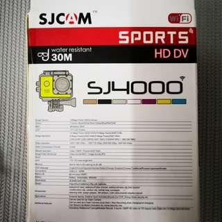 100% Original SJCAM SJ4000 WiFi Kit Pckage 1080P Full HD ExtremeSport DV Action Camera Diving 30M Waterproof+3x battery+3x lens protection case. (free 4g memory card)