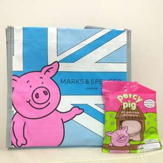Marks & Spencer Percy pig 袋仔 + 軟糖 (全新)