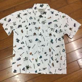 🚚 古著 夏威夷風 短袖襯衫 M號