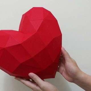 3D Geometric origami heart (DIY)