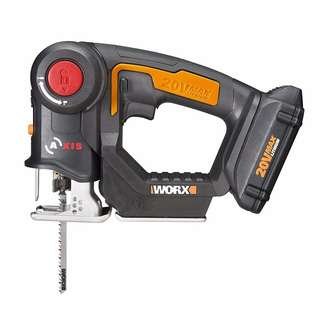 WORX WX550 20V AXIS 2-in-1 Reciprocating Saw and Jigsaw with Orbital Mode, Variable Speed and Tool-Free Blade Change