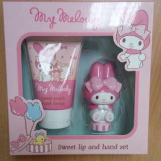 My Melody Lip And Hand Set Xmas Special