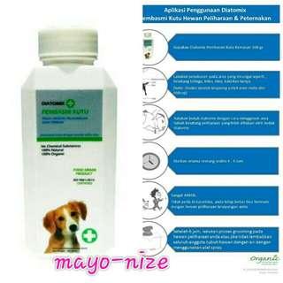 Obat kutu kucing anjing diatomix natural alami