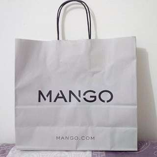Mango paperbag. Original. Preloved