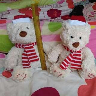 A pair of X'mas bears