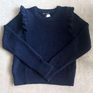 Banana Republic Frilly Shoulder sweater
