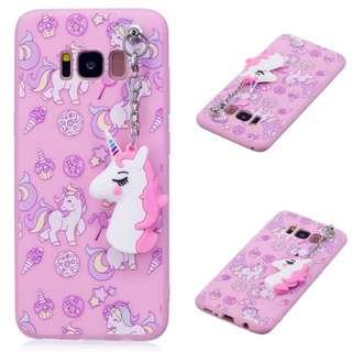 Samsung S8 S8 Plus Note 8 Unicorn Removable Charm Case