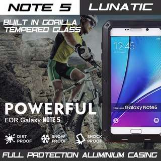 SAMSUNG NOTE 5 HEAVY DUTY METAL CASING FULL PROTECT. INSTOCK