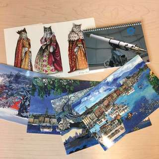 4Cards/3postcards/notebook set