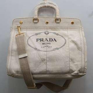 Prada Large Canvas Bag
