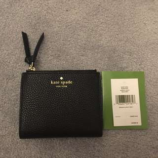 Kate spade black leather small wallet Christmas gift idea