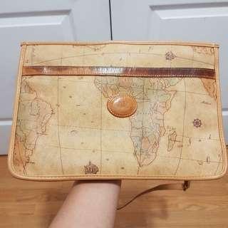 Allan Edwards's pristine map print sling bag