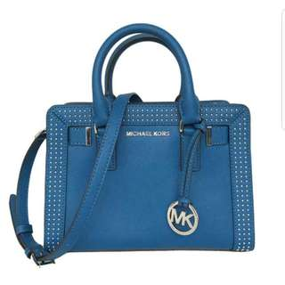 Authentic: Michael Kors Small Dillon Satchel (blue)