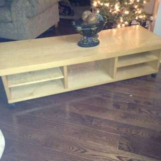 Ikea TV table with wheels and 5 shelves
