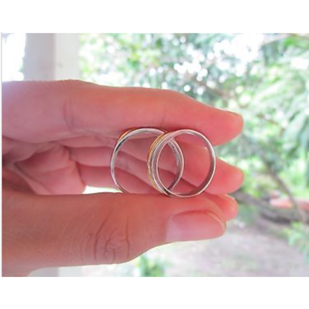 05 Carat Diamond Twotone Wedding Ring Code WD027 14k, Preloved ...