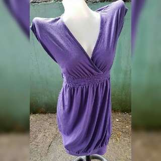 Vneck Purple Sexy Dress