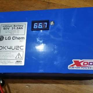 xoda 60v 31.5ah with volt meter and switch