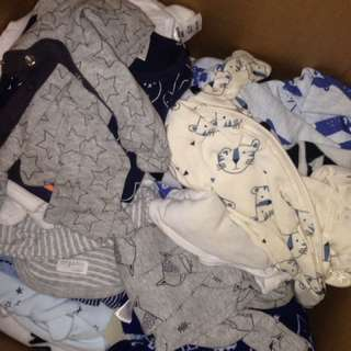 Bulk full huge box of baby boy clothes