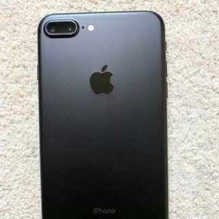 iphone 7 plus 128gb Matte black 95%new full set but no earphone