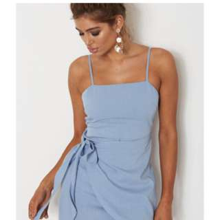 Whitefox Boutique wrap dress - sky blue