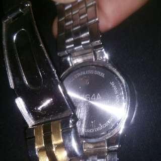Jag ladies japanese movement two tone digital watch Model J764A