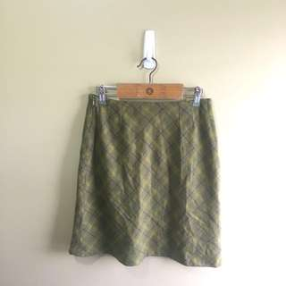 NEW Promod Plaid Office Skirt