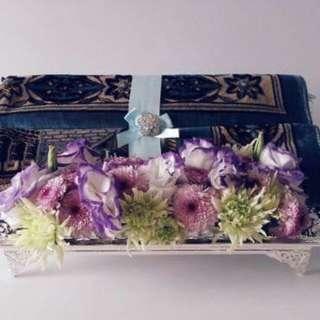 Silver elegant wedding gift trays dulang hantaran