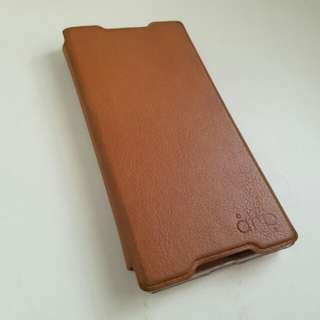 [Phone Accessories] Leather Flip Cover (Sony Xperia Z3+)