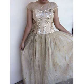 Gold Prom Gown