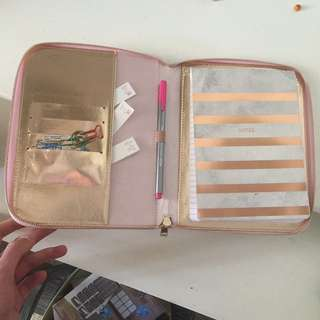Rose gold/pink Planner/Folio - Like Kikki.k!