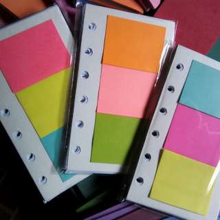 Small Organizer Notebook Fillers with post-it