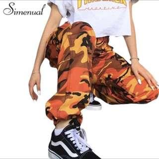 Camo pants - high wasted