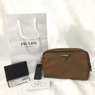 BRAND NEW AUTHENTIC PRADA COSMETIC POUCH—-small