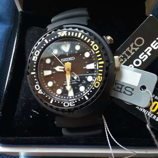 Seiko kinetic diver limided edition blank gold