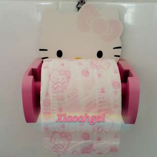 **RESERVE**🔴ONLY FOLLOWERS GET DISCOUNT!!🔴🐰AUTHENTIC BRAND NEW (CLEAN-for pic only)🐰SANRIO ORIGINAL HELLO KITTY Tissue/Toilet Paper scotts roll/holder/hanger (Practical gift/display/own use)(No pet No smoker clean hse)