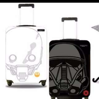 Promotion: Star Wars 24 Inch Travel Luggage White and Black