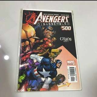 #1212YES Marvel Comics Avengers : Disassembled #500