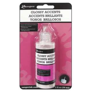 BN  Ranger Ink - Glossy Accents - Clear Dimensional Embellishment - 2 oz